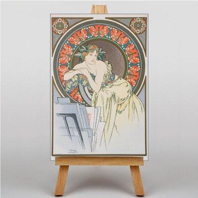Big Box Art Piece by Alphonse Mucha Graphic Art on Canvas