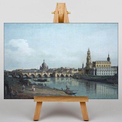 Big Box Art Aususts Bridge by Bernado Bellotto Canaletto Art Print on Canvas