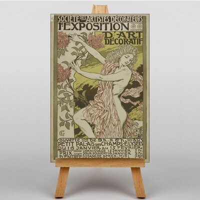 Big Box Art Society Exposition by Eugene Grasset Vintage Advertisement on Canvas