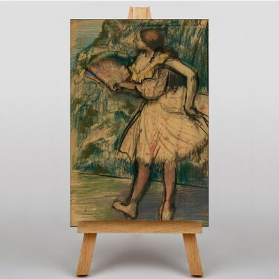 Big Box Art Dancer with a Fan by Edgar Degas Art Print on Canvas