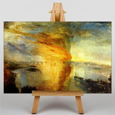 Big Box Art The Burning of the House of Lords by Joseph Mallord William Turner Art Print on Canvas