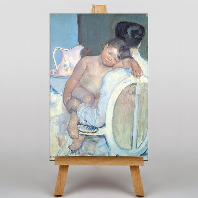 Big Box Art Woman with Child in her Arms by Mary Cassatt Art Print on Canvas