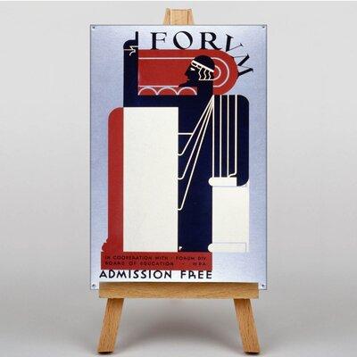 Big Box Art Forvm Vintage Advertisement on Canvas