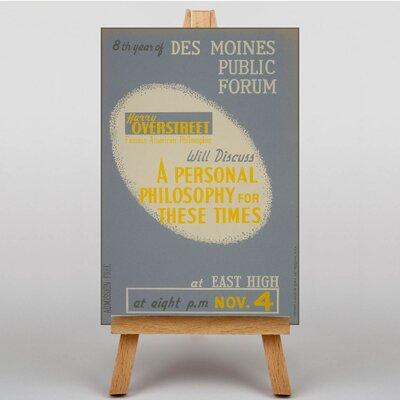 Big Box Art Personal Philosophy Typography on Canvas