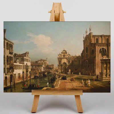 Big Box Art Landscape with Buildings by Bernado Bellotto Canaletto Art Print on Canvas