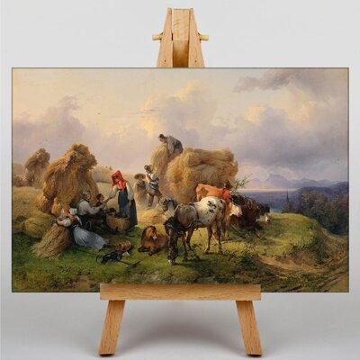 Big Box Art The Harvest by Ferdinand Georg Waldmuller Art Print on Canvas