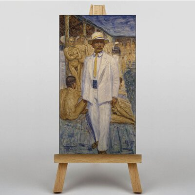 Big Box Art Man in a Panama Hat by Eugene Jansson Art Print on Canvas