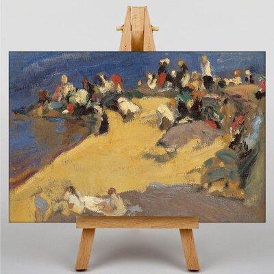 Big Box Art At the Beach by Joaquin Sorolla Y Bastida Art Print on Canvas
