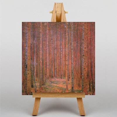 Big Box Art Fir Tree Forest by Gustav Klimt Art Print on Canvas