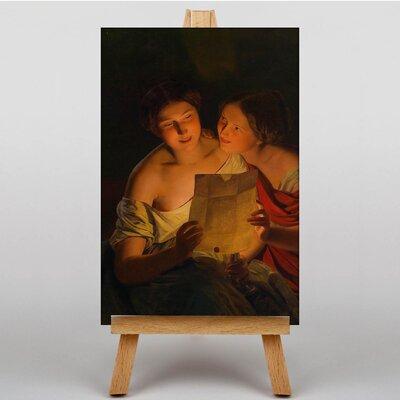Big Box Art The Love Letter by Ferdinand Georg Waldmuller Art Print on Canvas