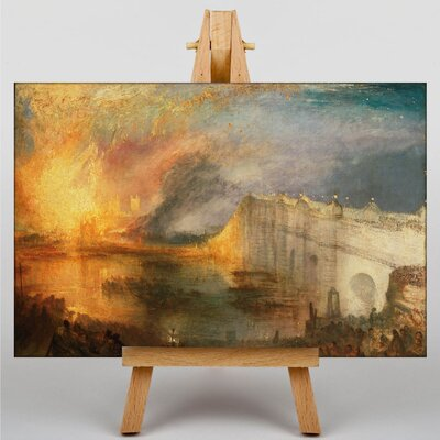 Big Box Art The Burning of the Houses of Commons by Joseph Mallord William Turner Art Print on Canvas