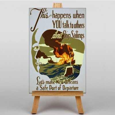 Big Box Art Safe Port of Departure Vintage Advertisement on Canvas