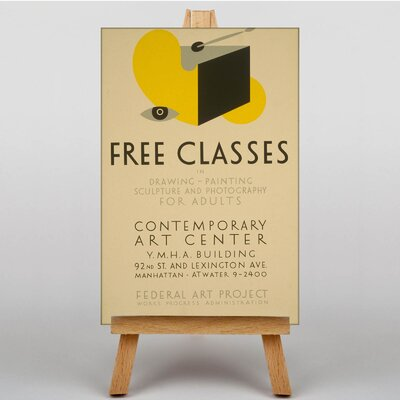 Big Box Art Free Classes Vintage Advertisement on Canvas