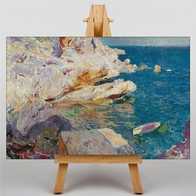 Big Box Art Sea Cliffs by Joaquin Sorolla Y Bastida Art Print on Canvas