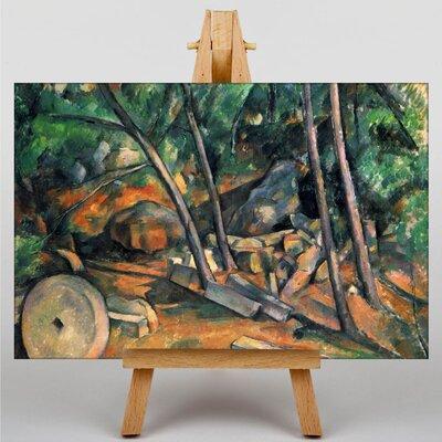 Big Box Art Woods with Millstone by Paul Cezanne Art Print on Canvas