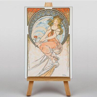 Big Box Art Piece No.6 by Alphonse Mucha Graphic Art on Canvas