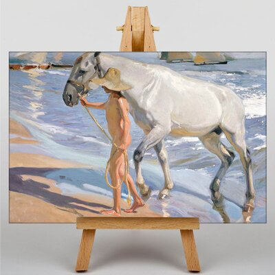 Big Box Art The Horses Bath by Joaquin Sorolla Y Bastida Art Print on Canvas