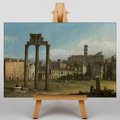 Big Box Art Ruins of the Forum in Rome by Bernado Bellotto Canaletto Art Print on Canvas