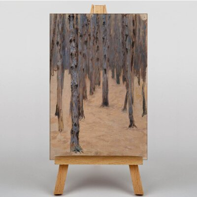 Big Box Art Forest by Gustav Klimt Art Print on Canvas