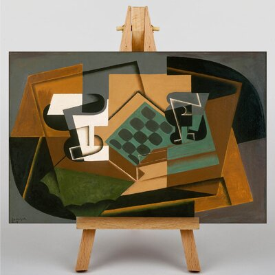Big Box Art Chessboard and Glass by Juan Gris Graphic Art on Canvas