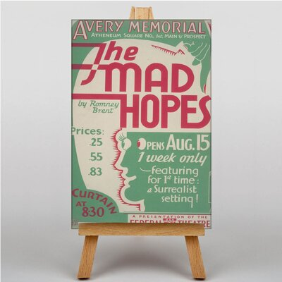 Big Box Art The Mad Hopes Vintage Advertisement on Canvas