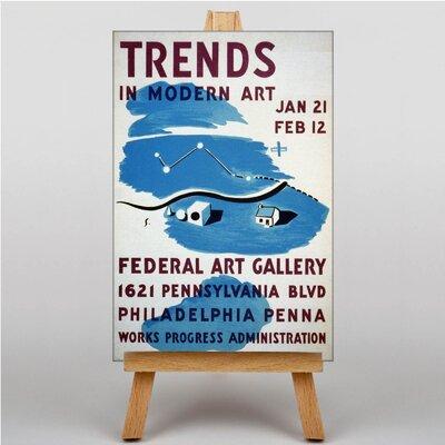 Big Box Art Trends in Modern Vintage Advertisement on Canvas