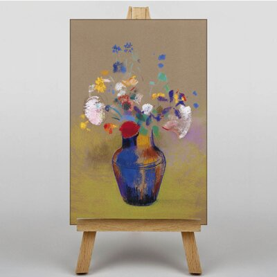 Big Box Art Flowers in a Vase by Odilon Redon Art Print on Canvas