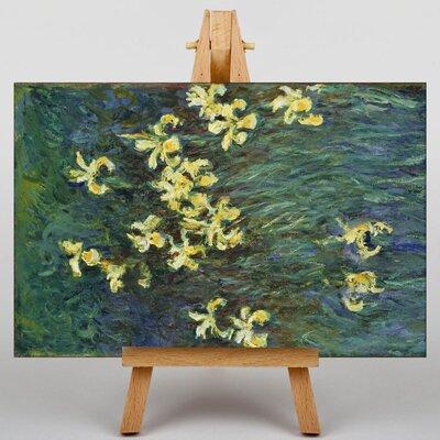 Big Box Art Yellow Irises by Claude Monet Art Print on Canvas
