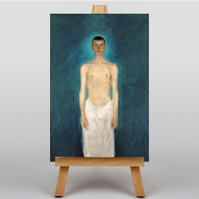 Big Box Art Self Portrait by Richard Gerstl Art Print on Canvas
