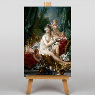Big Box Art Seated with Cupids by Francois Boucher Art Print on Canvas