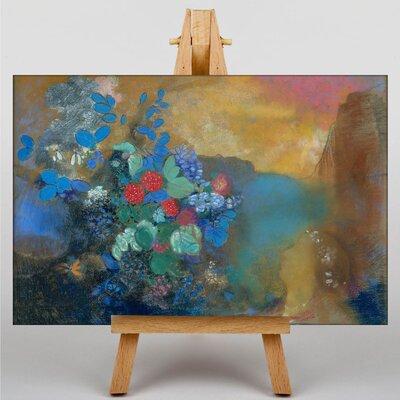 Big Box Art Ophelia Among the Flowers by Odilon Redon Art Print on Canvas