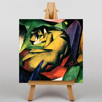 Big Box Art The Tiger by Franz Marc Graphic Art on Canvas