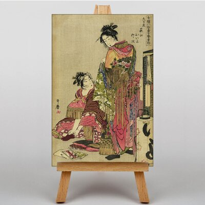 Big Box Art Japanese Oriental No.13 by Kitagawa Utamaro Graphic Art on Canvas