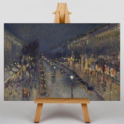 Big Box Art Street at Night by Camille Pissaro Art Print on Canvas