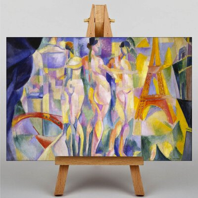 Big Box Art La Ville de Paris by Robert Delaunay Art Print on Canvas