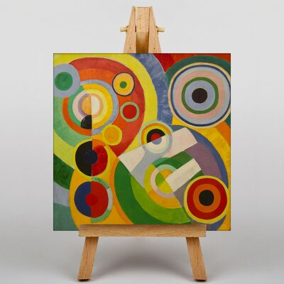 Big Box Art Rhythm by Robert Delaunay Art Print on Canvas