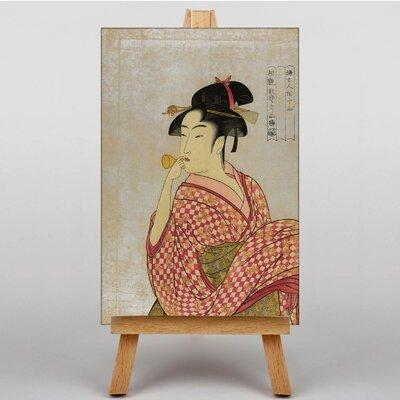 Big Box Art Vintage Japanese Oriental No.19 by Kitagawa Utamaro Graphic Art on Canvas