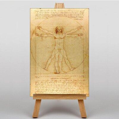 Big Box Art The Vitruvian Man Vitruviano by Leonardo Da Vinci Art Print on Canvas