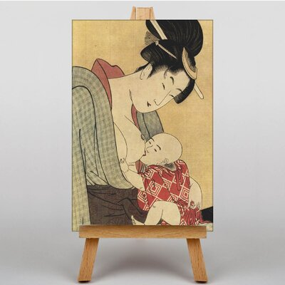 Big Box Art Vintage Japanese Oriental No.20 by Kitagawa Utamaro Art Print on Canvas