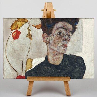 Big Box Art Self Portrait by Egon Schiele Art Print on Canvas