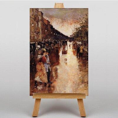 Big Box Art Street by Lesser Ury Art Print on Canvas
