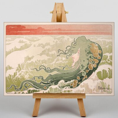 Big Box Art The Wave by Henri Privat-Livemont Graphic Art on Canvas