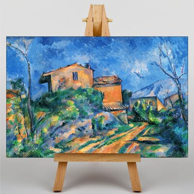 Big Box Art Landscape and Houses by Paul Cezanne Art Print on Canvas
