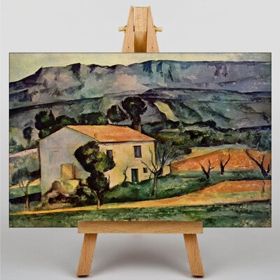 Big Box Art Landscape and Houses No.3 by Paul Cezanne Art Print on Canvas