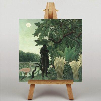 Big Box Art Jungle Snake by Henri Rousseau Graphic Art on Canvas
