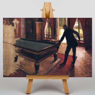 Big Box Art Billiards by Gustave Caillebotte Art Print on Canvas