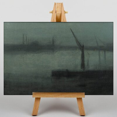 Big Box Art Nocturne by James McNeill Whistler Art Print on Canvas