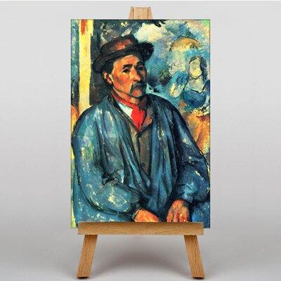 Big Box Art Man in Blue by Paul Cezanne Art Print on Canvas