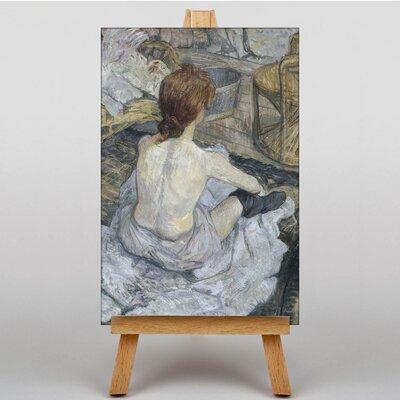 Big Box Art Seated Girl by Henri de Toulouse-Lautrec Art Print on Canvas