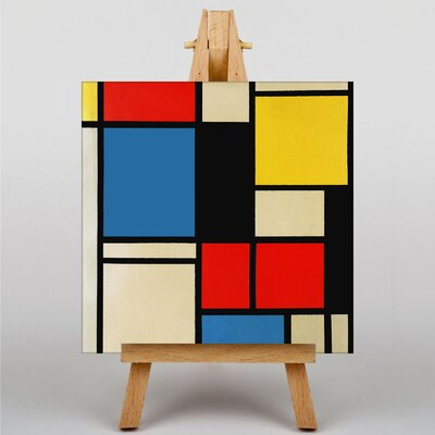 Big Box Art Lithograph by Piet Mondrian Graphic Art on Canvas